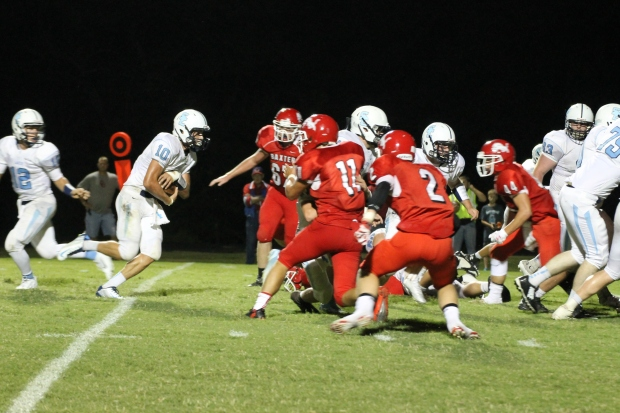 Southeast High School senior Ryan Rakestraw scored 18 points in Friday's 36 to 0 win in Baxter Springs.  Rakestraw ran in two touchdowns, ran in two 2-point conversions, and kicked in two extra point conversions.