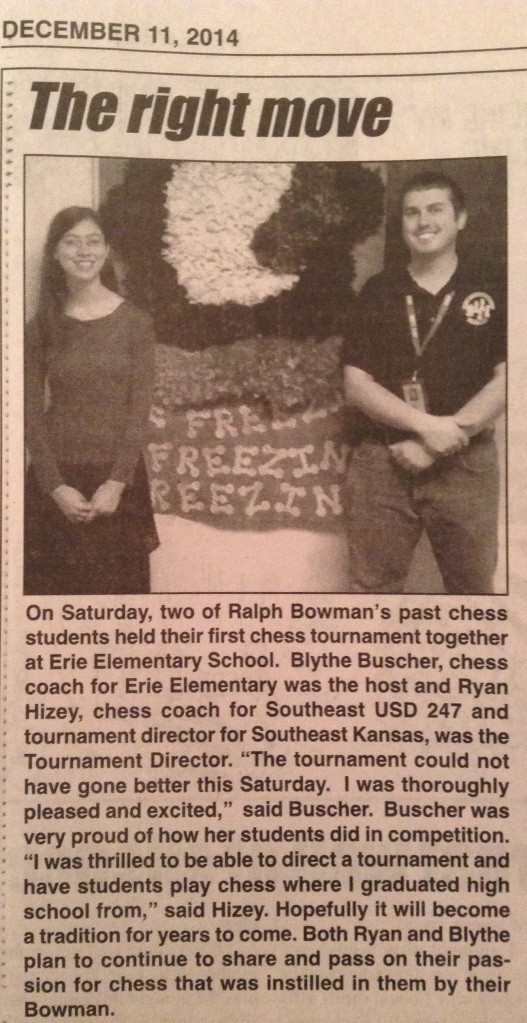 Erie Record Chess Article