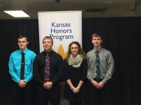 Southeast High School seniors recognized by the Kansas Honors Program on Monday evening, from left to right, Austin Rogers, Jacob Zortz, Megan Gall and Shadow Jacobs. Also honored but unable to attend were Jarod Watsonand Aaron Westervelt.