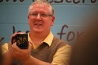 2015 05 12 Debate Leiker shows off mug (Medium)