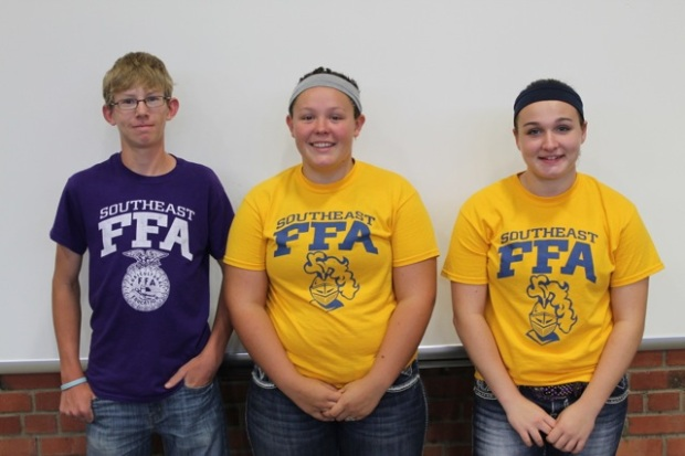 4th place team, Freshman-Sophomore Division SE District Entomology Contest: John Jameson, Alli Markley and Cady Lloyd.