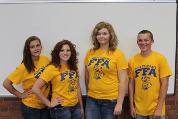 6th place team, SE District Nursery-Landscape CDE: Starla Wiggins, Courtney Ross, Sara Goins and Cole Jameson.