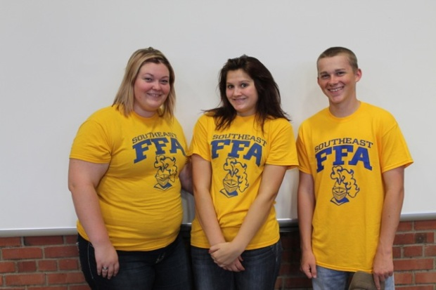 8th Place team, SE District Entomology CDE: Kim Fraker, Sara Scholes and Cole Jameson.