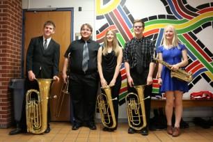 2016 04 09 KSHSAA Music Festival - Small Ensemble - Newport Spahn Stanley Newswander Rice - group pose (Medium)