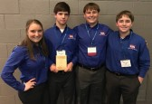 Sophomore Julie Martin, junior Brody Wood, senior Truman Buckley, and junior Kyler Spahn took 2nd place in On Demand Video to qualify for Nationals.