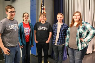 Senior Madison Westervelt, junior Kyler Spahn, and sophomores Amanda Becker, Brody Newswander and Peyton Simpson, have all been named to the 4 State Honor Band, which will perform for the public at the Bicknell Family Center for the Arts on the campus of Pittsburg State University at 7:00 p.m. on Thursday May 4.