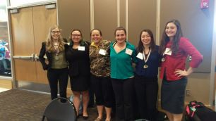Representing Southeast High School at the recent State HOSA Conference were Sydney Nippoldt, Ryley Slifka, Alli Markley, Cady Lloyd, Allison Gardner and Emily Grant.