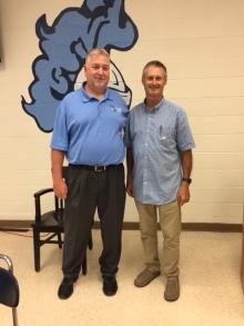 Principal Malle and Frank Pittman