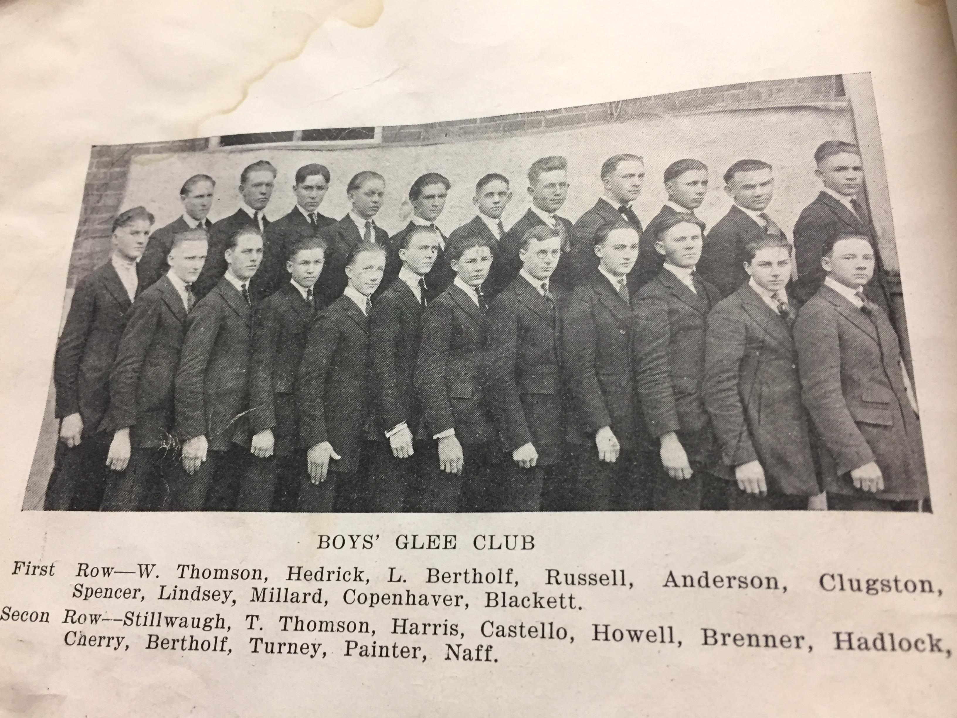 1922 Boys GleeClub
