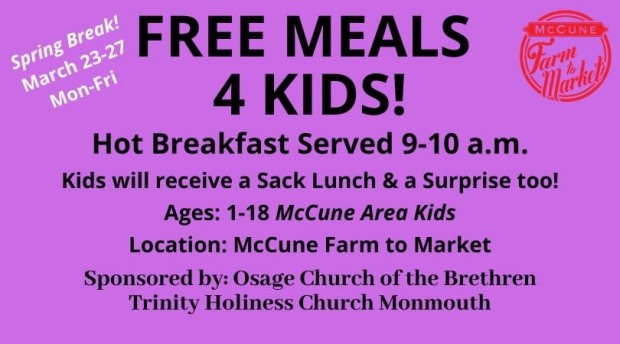 McCune Free Meals 4 Kids!